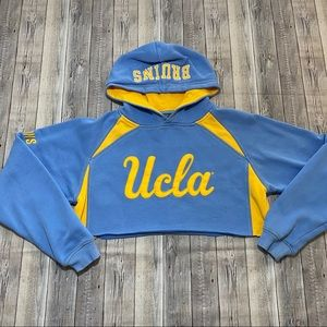 UCLA Bruins Embroidered Cropped Hoodie Upcycled